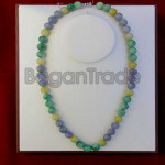 Colorful Jade Necklace made in Myanmar