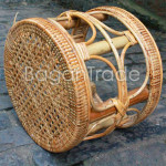 Circle shape Cane Stool Chair