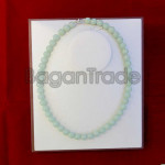 Pale Green Color of Jade Bead Necklace