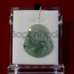 Happy Buddha Pendant with A Jade