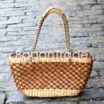 Two layers Hand woven Water Hyacinth handbag