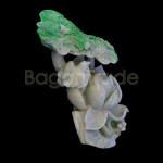 Lotus sculpture made with  Myanmar Jade