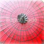 Red Color Pathein Parasol in Myanmar
