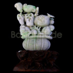 A Jade Flower Basket Sculpture from Myanmar