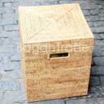 Square Style Wicker Storage Cane Box
