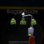 Natural Peridot Pendant and Earrings in Sterling S