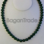 Beautiful Dark Green Color of Jade Bead Necklace