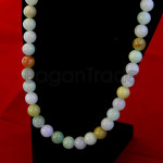 44beads Colorful Jade Bead Necklace made in Myanma