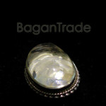 Oval shape Clear Quartz Crystal Pendant