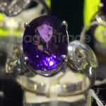 Purple color Amethyst Ring Round Shape