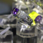 Rectangle shape Amethyst Ring