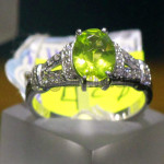 Green color Peridot Ring