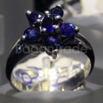 Blue Set with Six Sapphire Ring