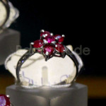 Heated Set with Six Ruby ring