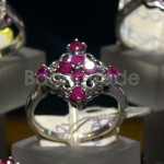 Beautiful design Heated Ruby Ring