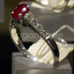 Only one Heated Ruby Ring