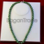 Dark Green Color Jade Necklace made in Myanmar