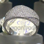 Beautiful Colorless Zircon Crystal Ring