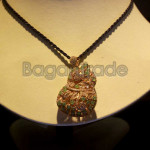 The shaped of Gourd Jade and Zircon Locket