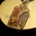 Zarmani shaped Locket made by Jade and Zircon