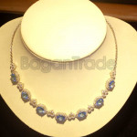 Blue Topaz with Zircon Necklace