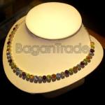 Colorful Jade with Zircon Necklace