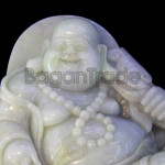 Happy Buddha Statue made by Myanmar Jade