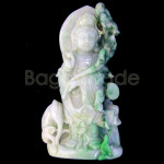 Chinese Guanyin Jade Statue with lotus jade