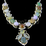 Beautiful jade necklace with flower pendent