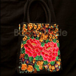 Rectangle shape Big Flower Design Handbag