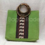 Green Color of Beautiful Cotton Handbag