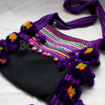 "Purple Color ""Akhar"" Traditional Shoulder Cott"