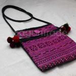 Small Purple Color of Cotton Shoulder Bag