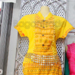 Yellow Color One Set design Shan Traditional Dress