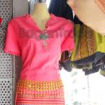 Pink Color Design Shan Traditional Dress One Set
