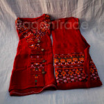 Red Color of One Set Design Shan Traditional Dress