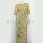 One Set Yellow Color Design of Myanmar Dress