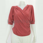Stretched Fabric Middle Sleeve of Beautiful blouse