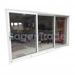 UPVC Three Panels Horizontal Sliding Door