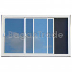 Three Leaf UPVC Sliding Window