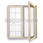 UPVC Window Double Leaf Double Swing Window