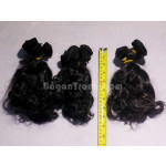 8 inches Curly Hair Weft (100% Human Remy Hair Extension)