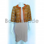 Light brown Lace coat with half sleeve
