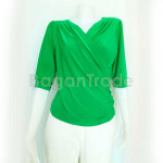 Beautiful Green color blouse with half sleeve