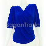 Navy Blue Spandex knitted Blouse