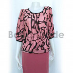 Middle  sleeve blouse for lady