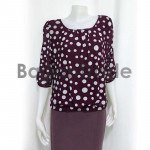 Purple color blouse with smart design