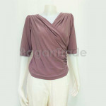 Reddish Grey Spandex knitted  blouse