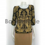 Lady blouse with middle sleeve