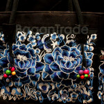 Blue color Flower Design Shan Traditional Handbag